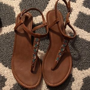 A.N.A Brown Strappy Sandals Sz. 8.5